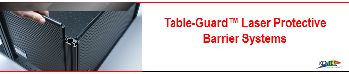 Table-Guard™ Laser Protective Barrier Systems